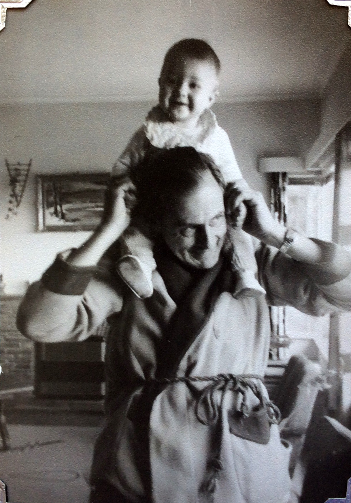 MICHAEL WITH HIS GRANDAD...CAPE TOWN, 1958...