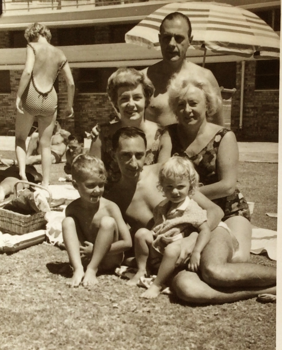 LAST PHOTO IN SEAPOINT, BEFORE OUMA AND OUPA LEFT FOR AUSTRALIA....FEB. 1962....